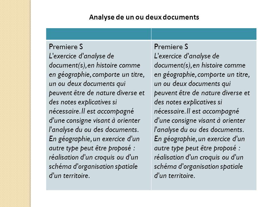 Analyse de un ou deux documents
