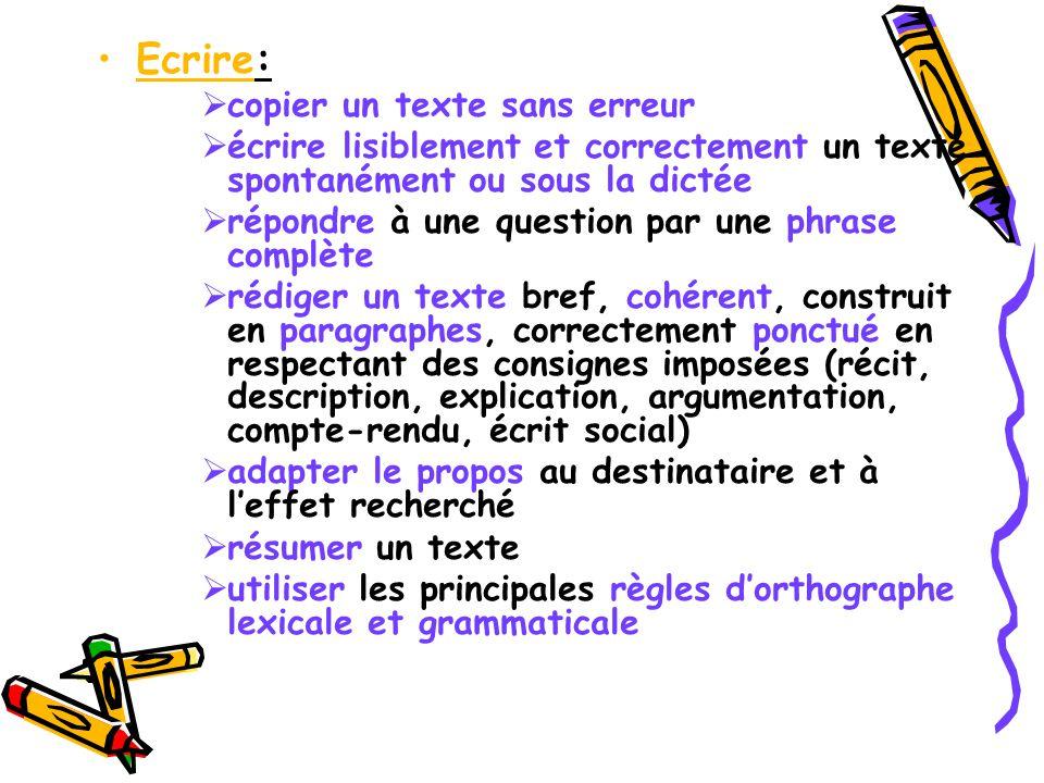 Ecrire: copier un texte sans erreur
