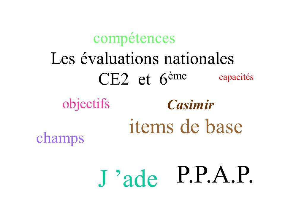 Les évaluations nationales CE2 et 6ème