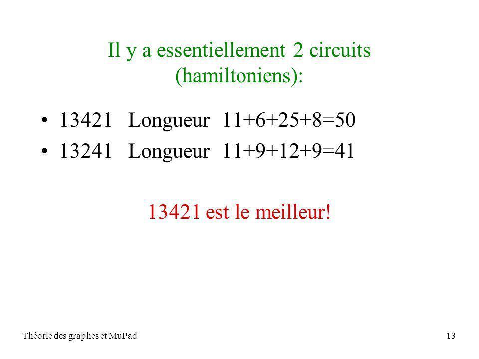 Il y a essentiellement 2 circuits (hamiltoniens):