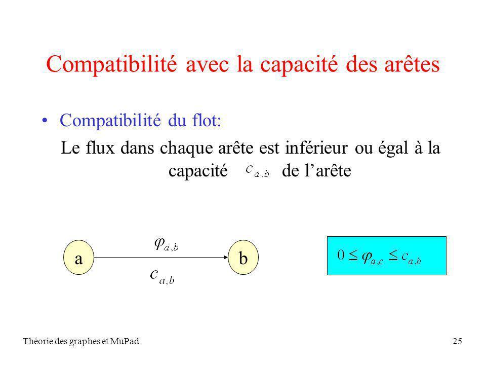 Compatibilité avec la capacité des arêtes