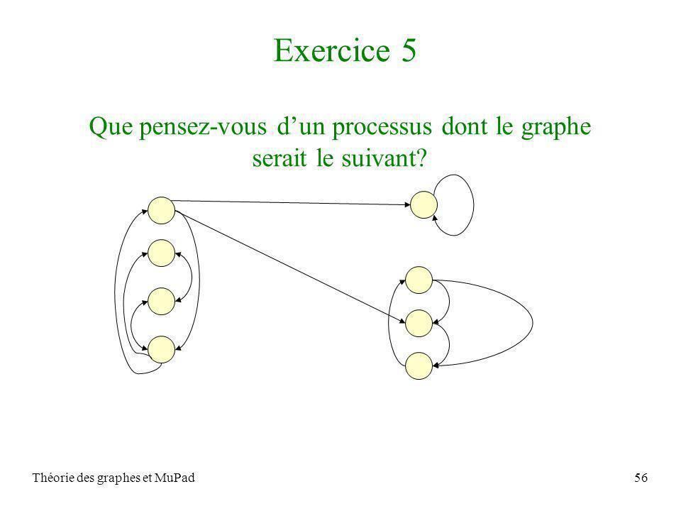 Exercice 5 Que pensez-vous d'un processus dont le graphe