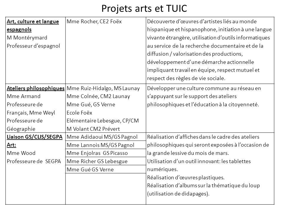 Projets arts et TUIC Art, culture et langue espagnols