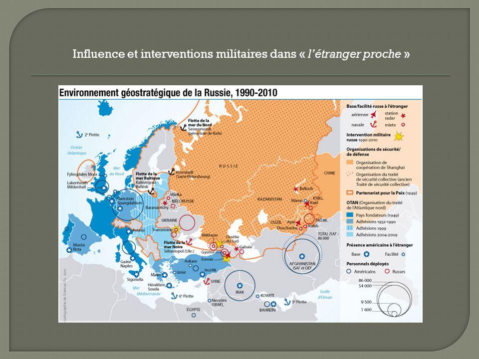 Influence et interventions militaires dans « l'étranger proche »