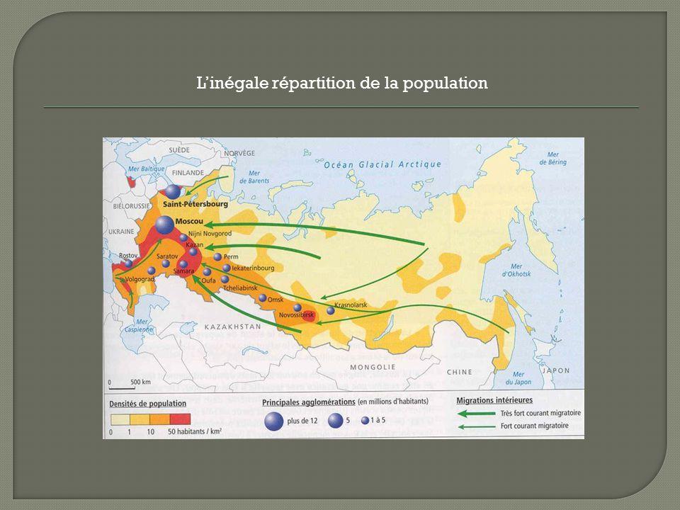 L'inégale répartition de la population