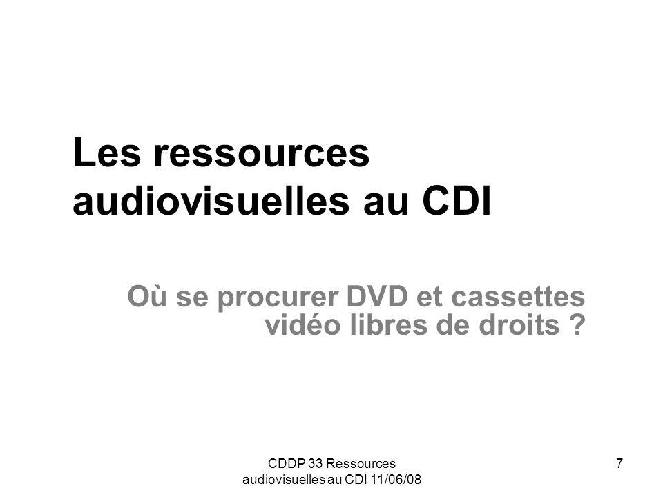 Les ressources audiovisuelles au CDI