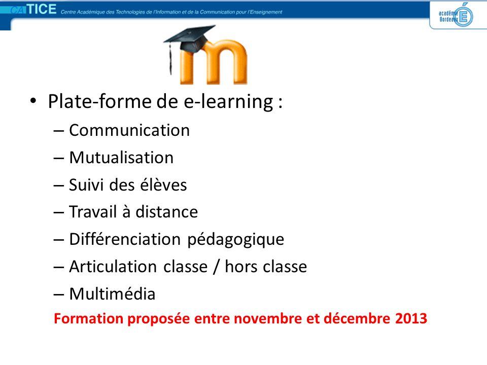 Plate-forme de e-learning :