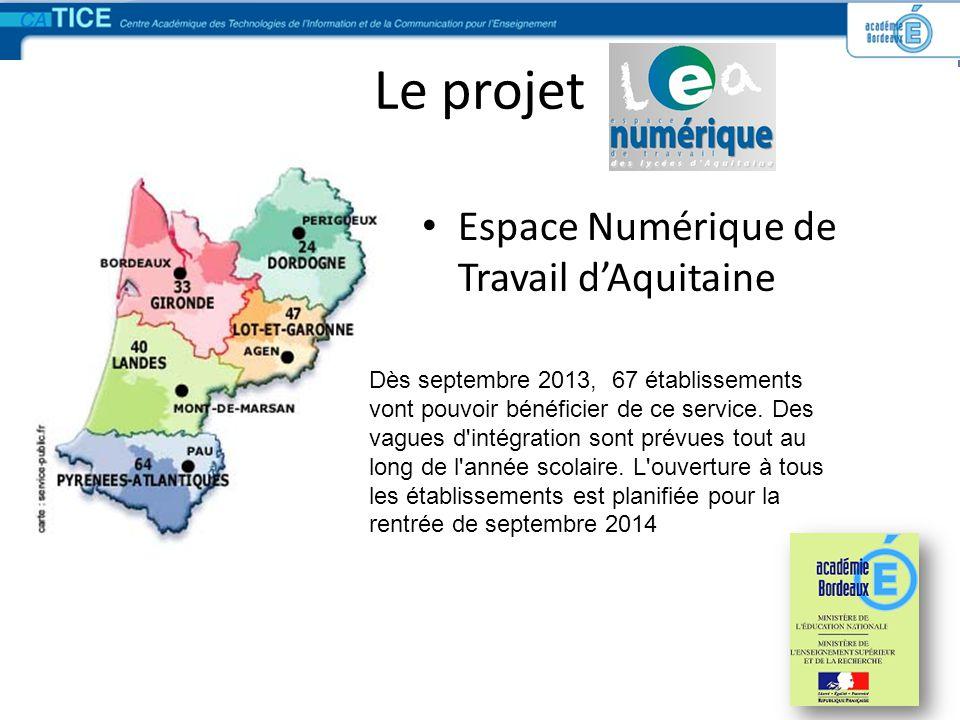 Le projet Espace Numérique de Travail d'Aquitaine