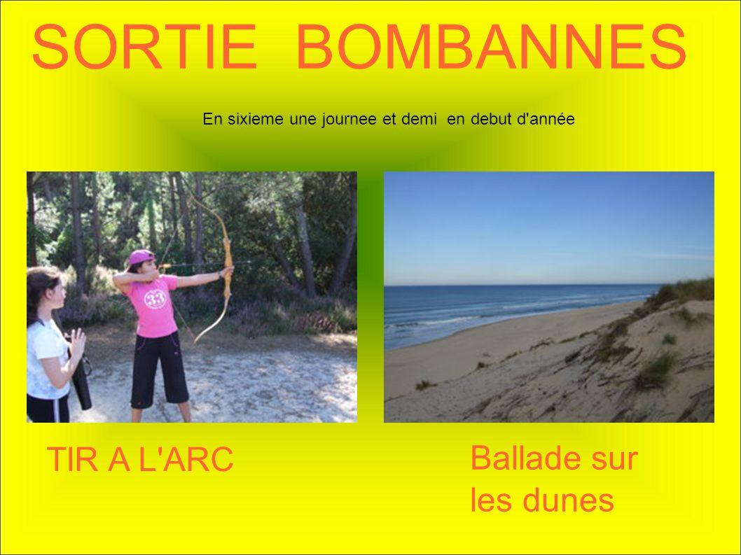 SORTIE BOMBANNES TIR A L ARC Ballade sur les dunes