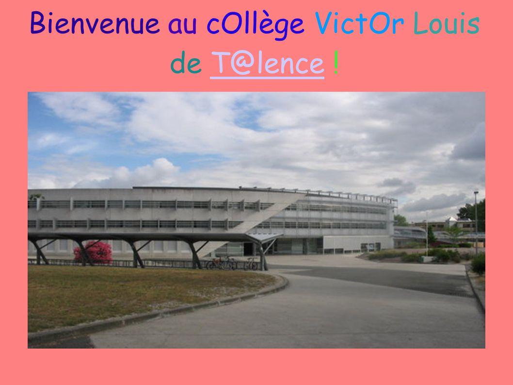 Bienvenue au cOllège VictOr Louis de T@lence !