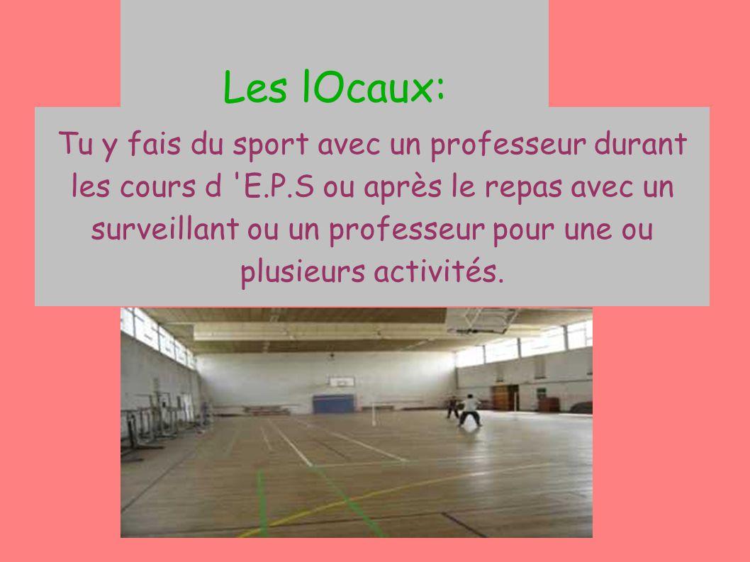 Les lOcaux: Le gymnase