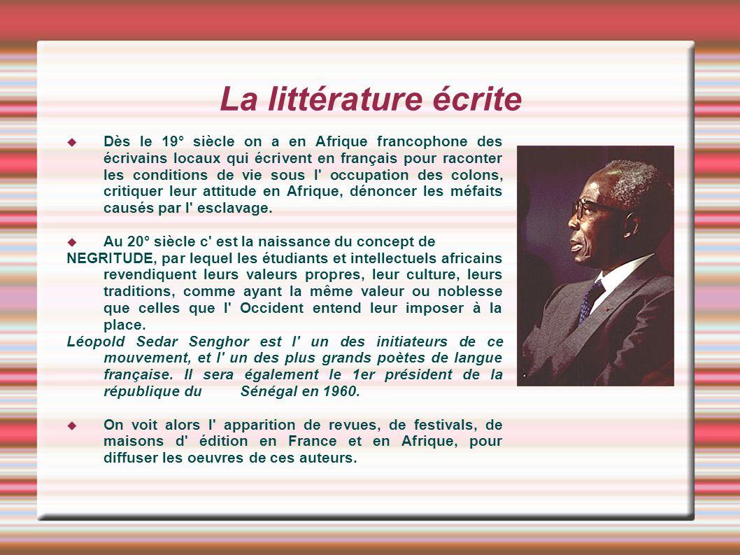 La littérature écrite