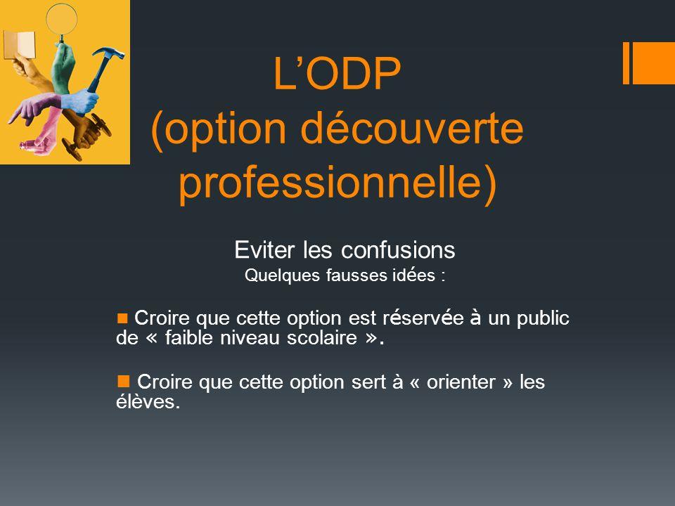 L'ODP (option découverte professionnelle)