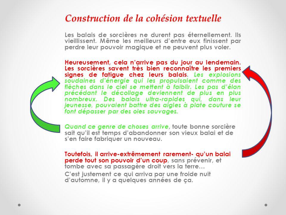 Construction de la cohésion textuelle