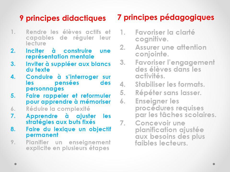 7 principes pédagogiques 9 principes didactiques