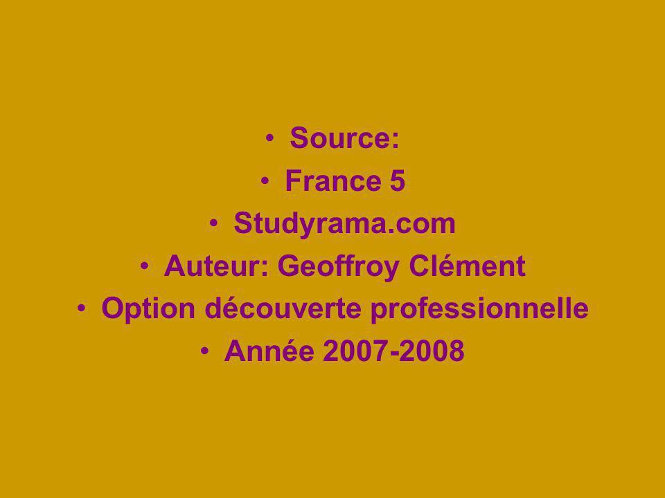 Auteur: Geoffroy Clément Option découverte professionnelle