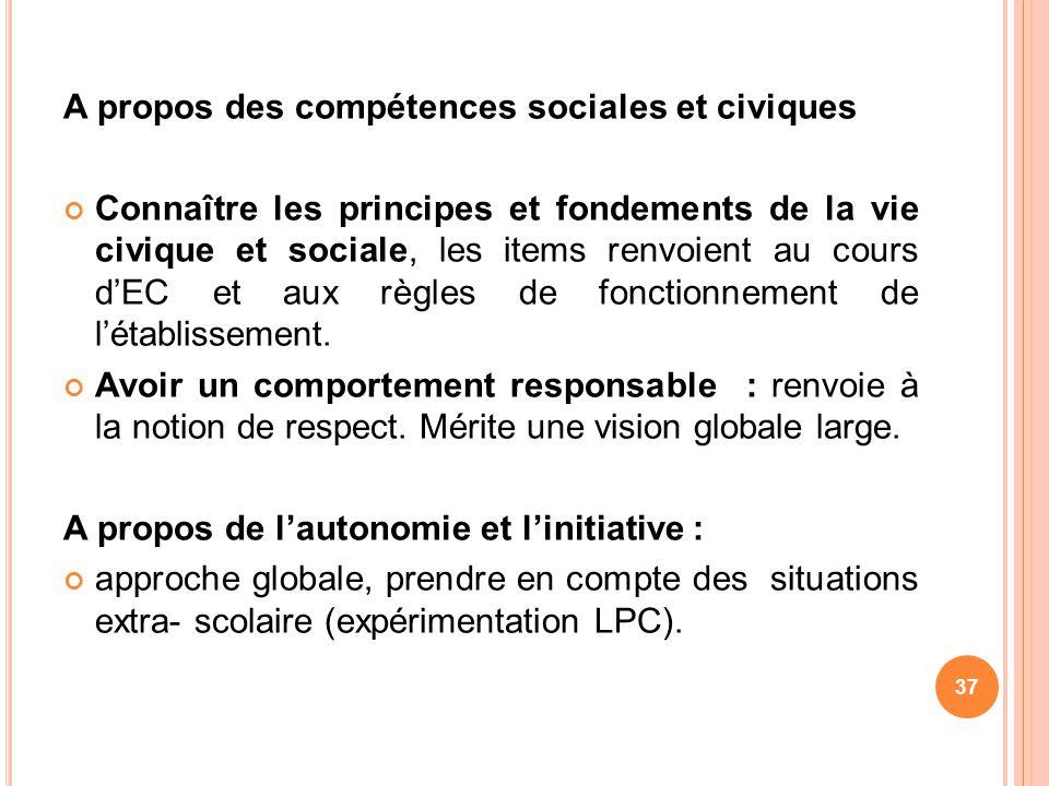 A propos des compétences sociales et civiques