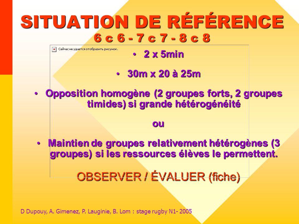 SITUATION DE RÉFÉRENCE 6 c 6 - 7 c 7 - 8 c 8