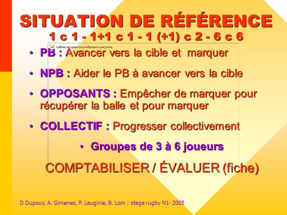 SITUATION DE RÉFÉRENCE 1 c 1 - 1+1 c 1 - 1 (+1) c 2 - 6 c 6