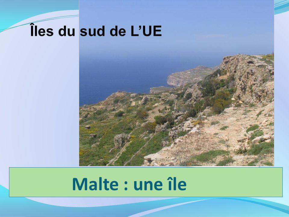 Îles du sud de L'UE Malte : une île