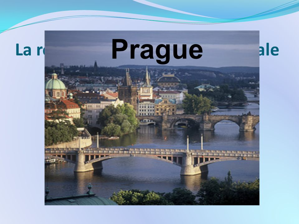 La république tchèque: sa capitale