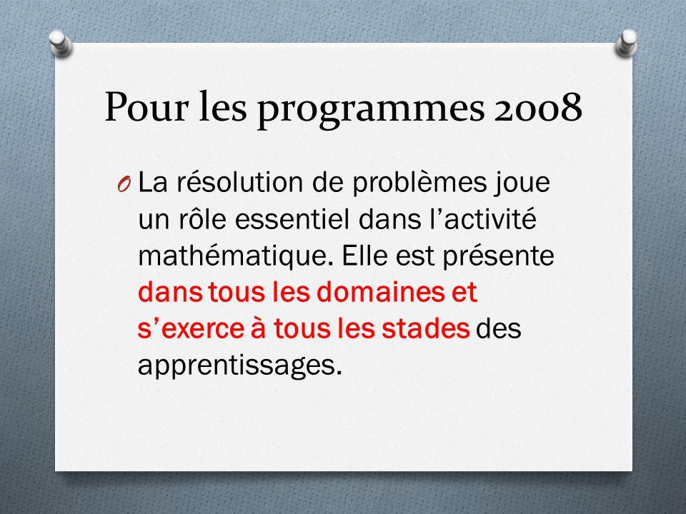 Pour les programmes 2008