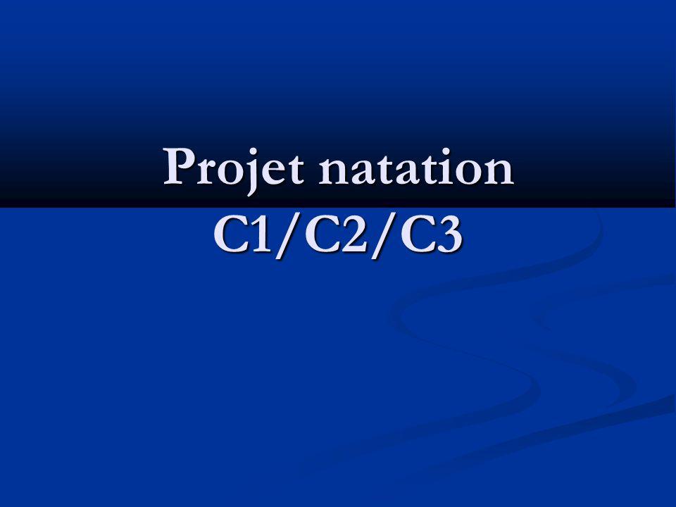Projet natation C1/C2/C3