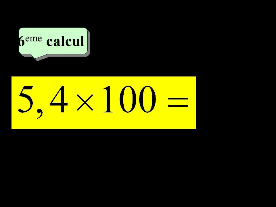 6eme calcul 3eme calcul 1