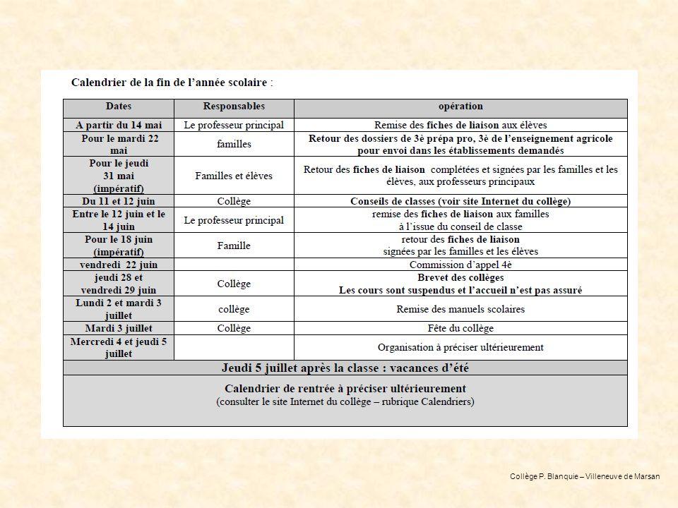Collège P. Blanquie – Villeneuve de Marsan
