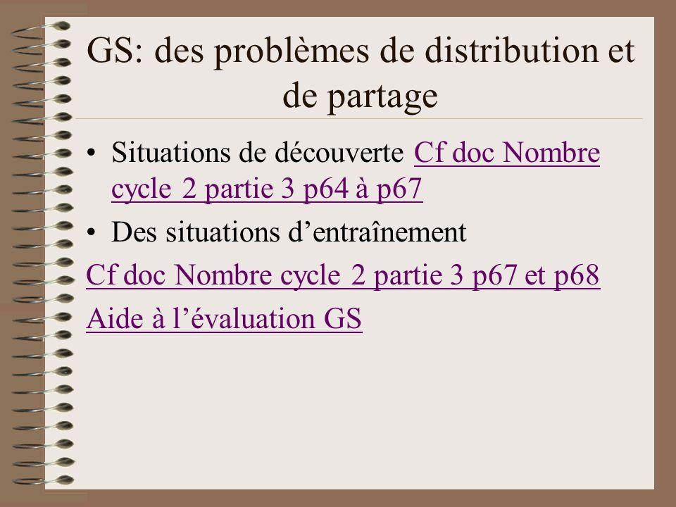 GS: des problèmes de distribution et de partage