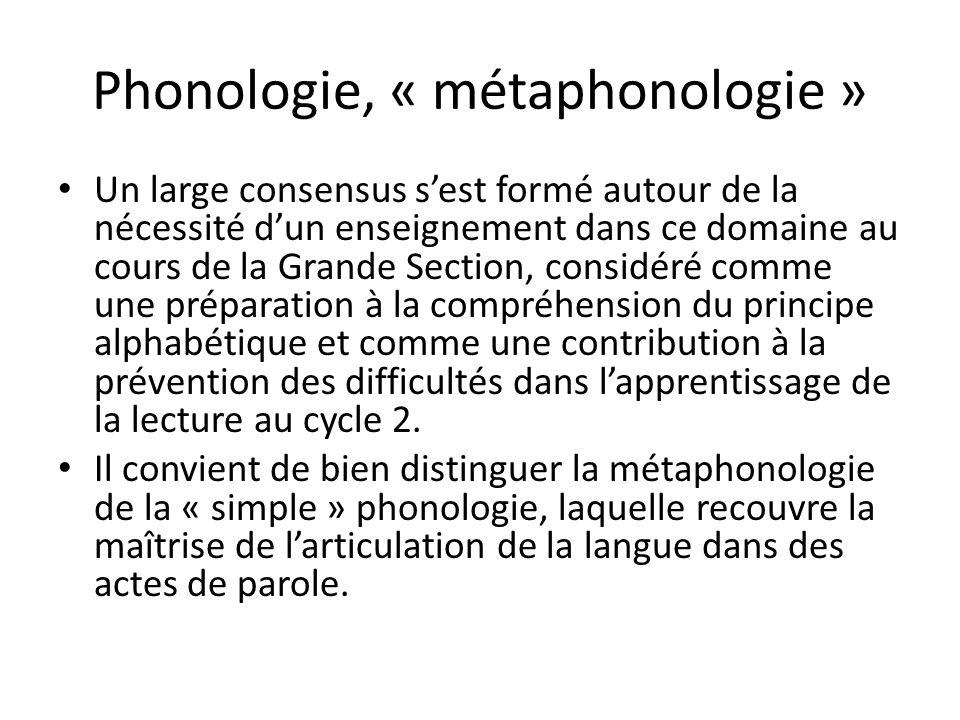Phonologie, « métaphonologie »