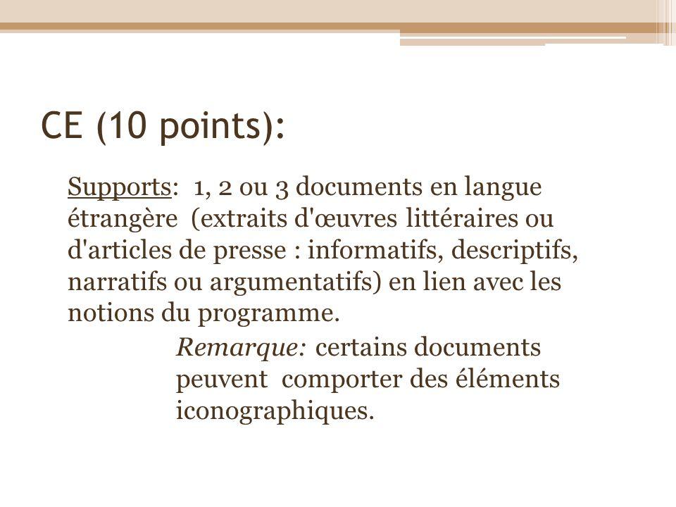CE (10 points):