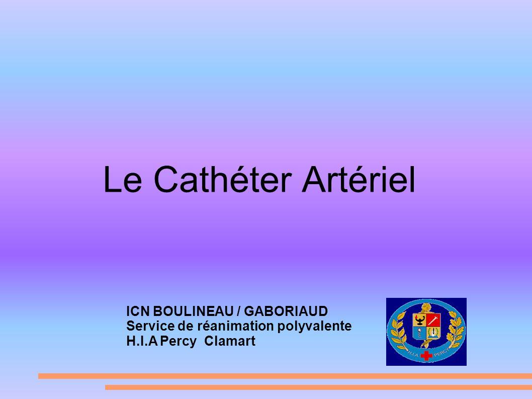 Le Cathéter Artériel ICN BOULINEAU / GABORIAUD