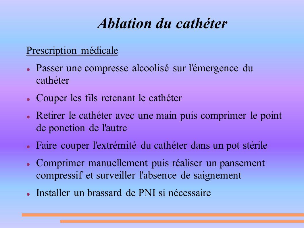 Ablation du cathéter Prescription médicale