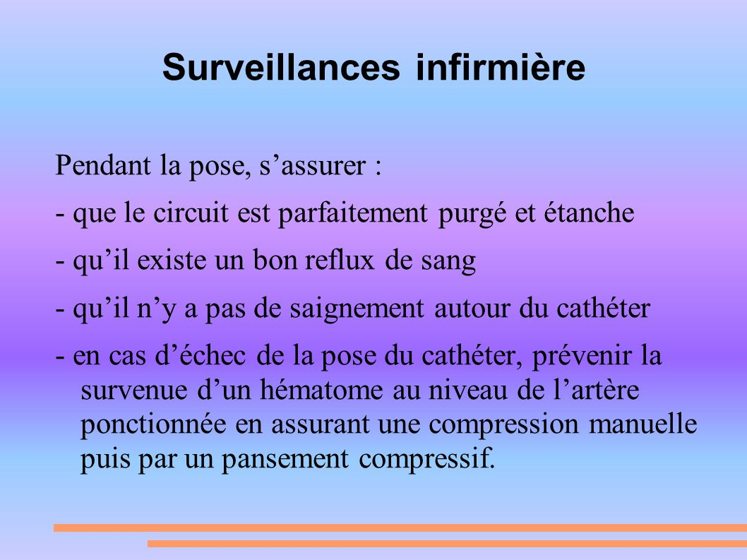 Surveillances infirmière