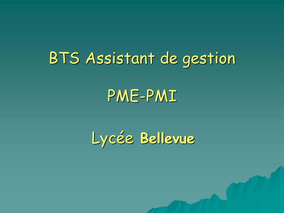 BTS Assistant de gestion PME-PMI