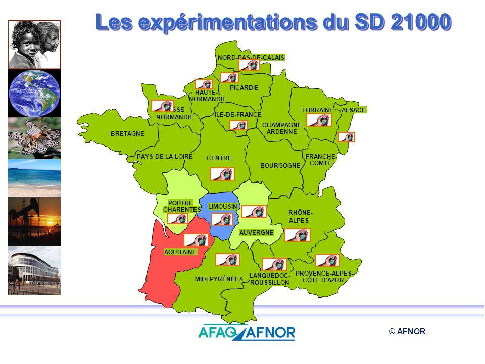 Les expérimentations du SD 21000