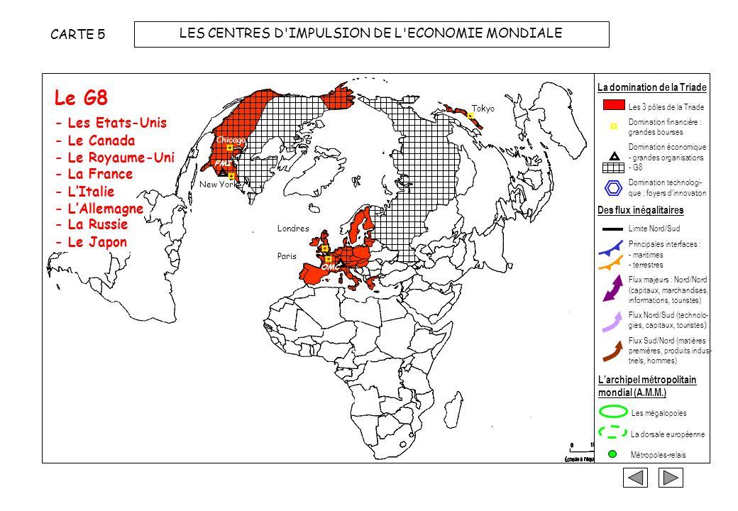 LES CENTRES D IMPULSION DE L ECONOMIE MONDIALE