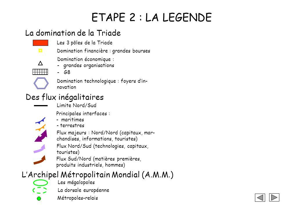 ETAPE 2 : LA LEGENDE La domination de la Triade ¤