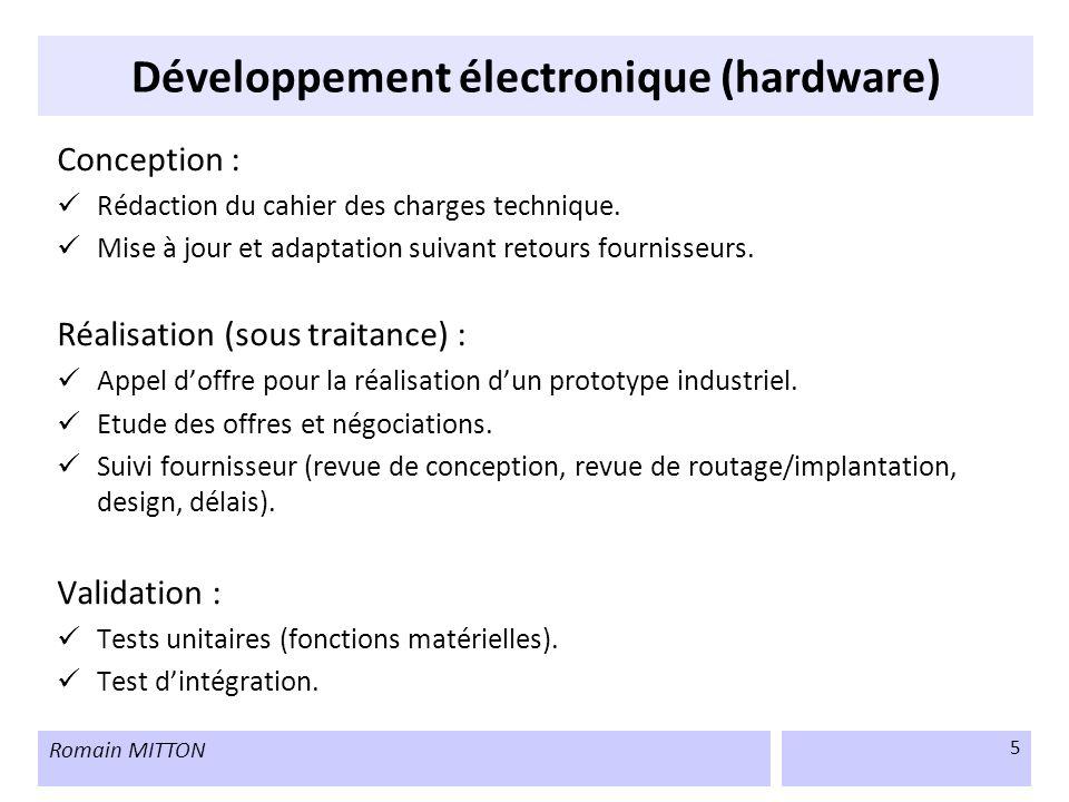 Développement électronique (hardware)