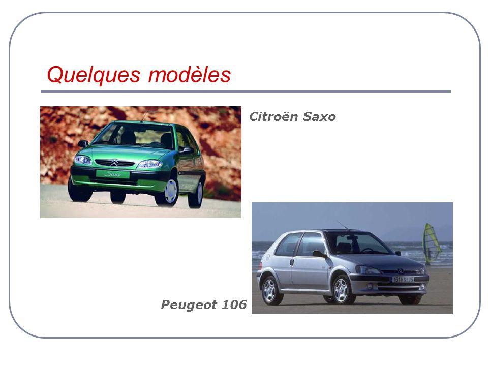 Quelques modèles Citroën Saxo Peugeot 106