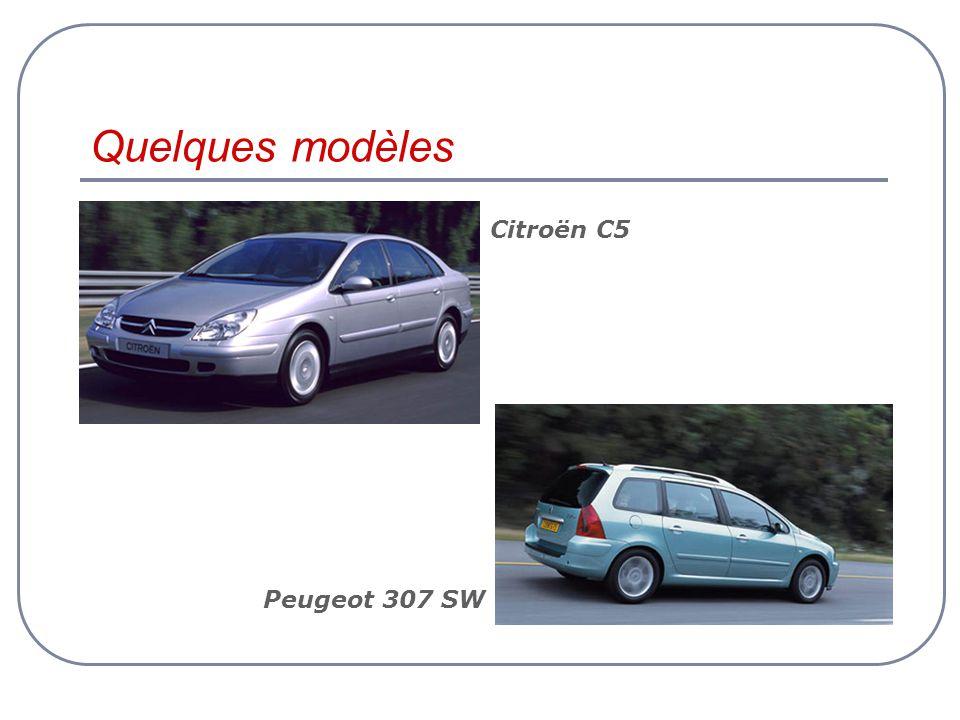Quelques modèles Citroën C5 Peugeot 307 SW
