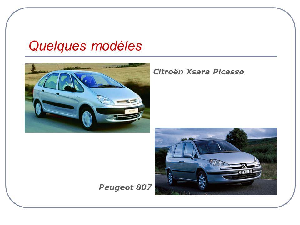 Quelques modèles Citroën Xsara Picasso Peugeot 807