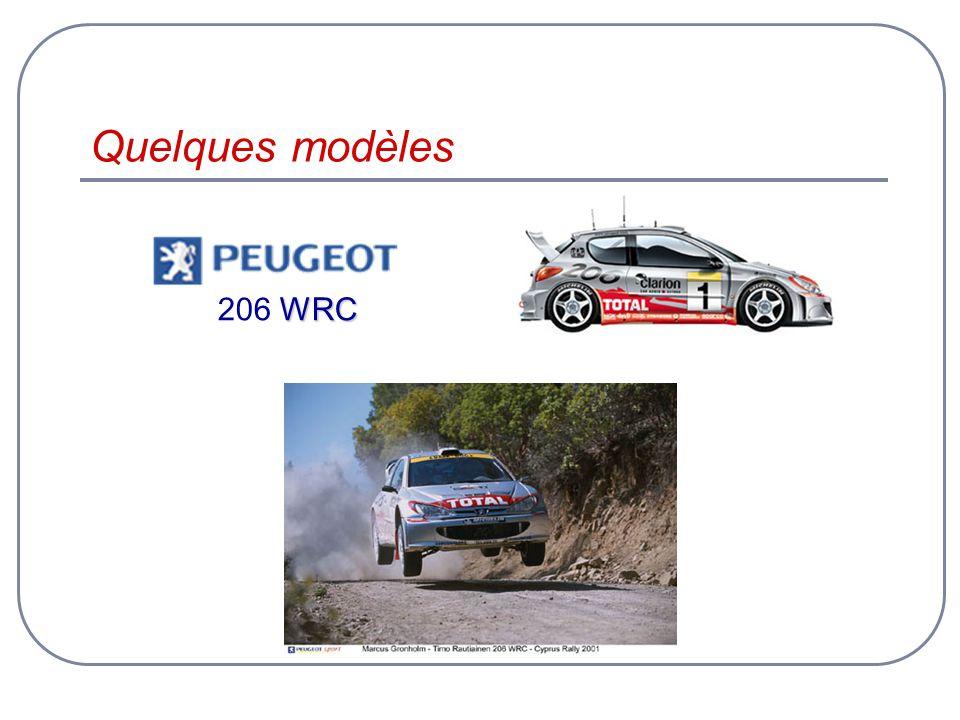 Quelques modèles 206 WRC