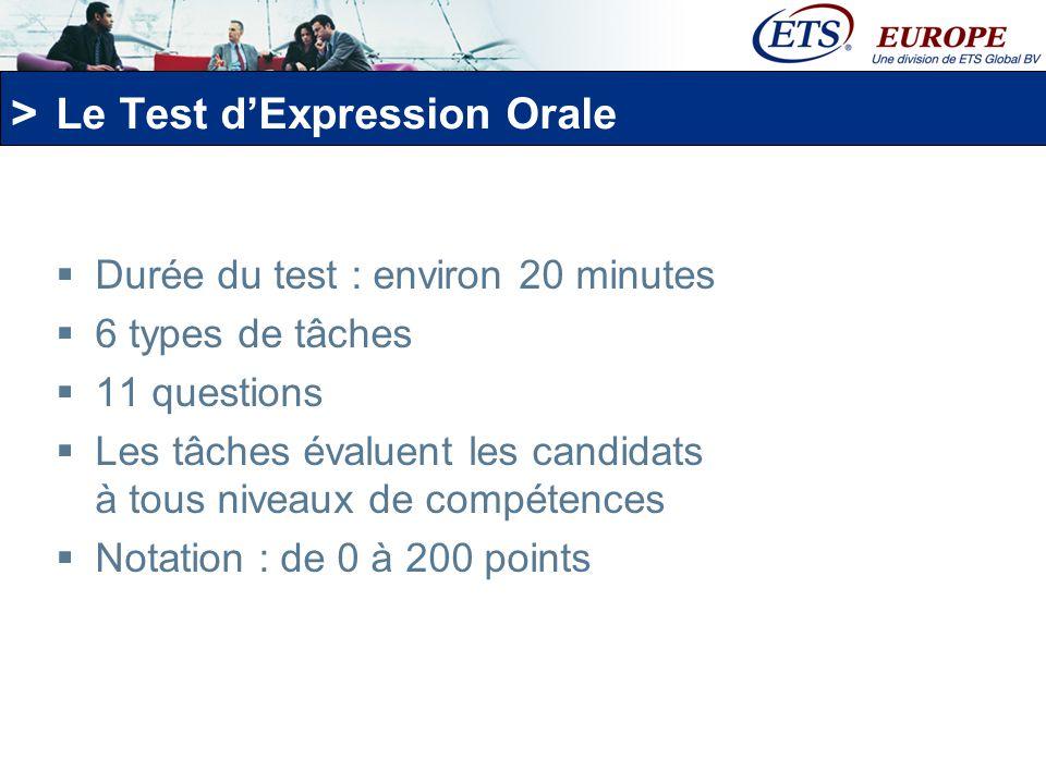 Le Test d'Expression Orale