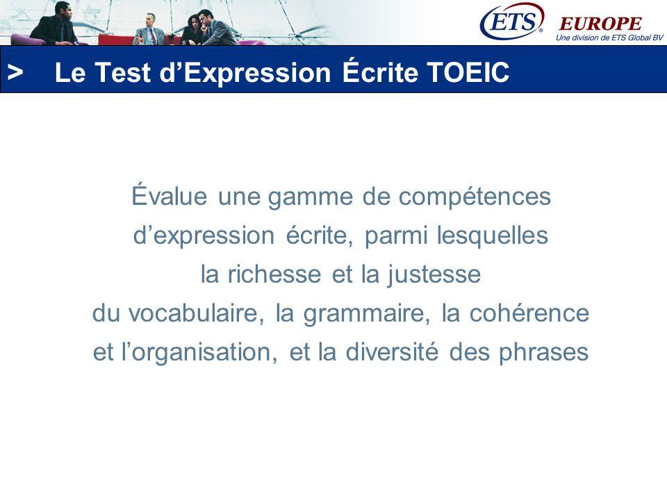 Le Test d'Expression Écrite TOEIC