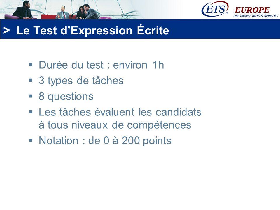 Le Test d'Expression Écrite