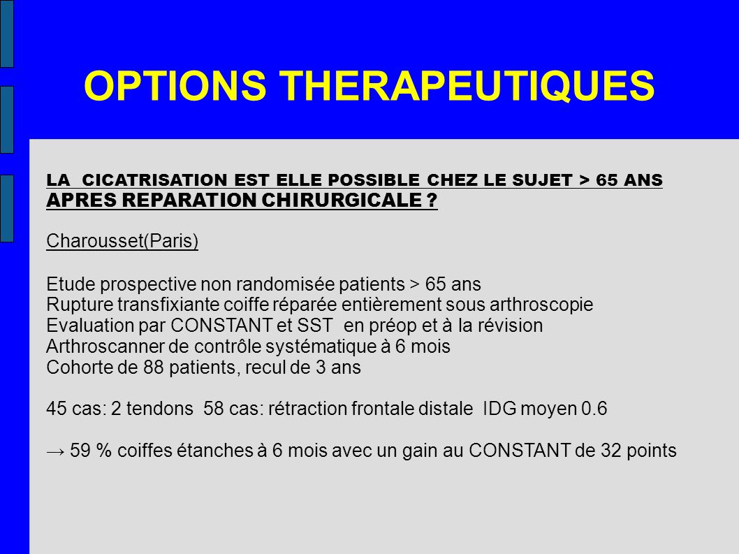 OPTIONS THERAPEUTIQUES