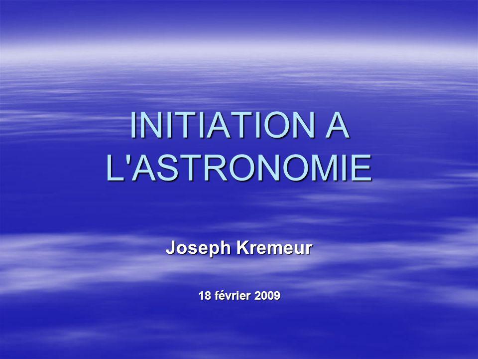 INITIATION A L ASTRONOMIE