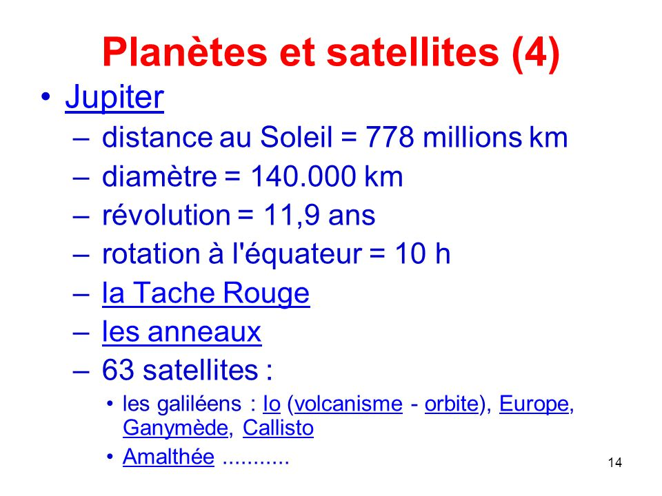 Planètes et satellites (4)